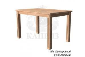 Стол обеденный 4 Б с фрезеровкой и накладкой - Мебельная фабрика «Каприз»