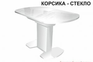 Стол обеденный Корсика стекло - Мебельная фабрика «Аврора»