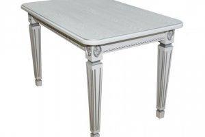Стол обеденный Меран 01 белый/патина - Мебельная фабрика «Мебелик»