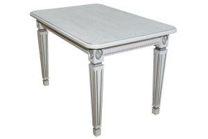 Стол обеденный Меран 03 раздвижной белый/патина 150/200*80 - Мебельная фабрика «Мебелик»