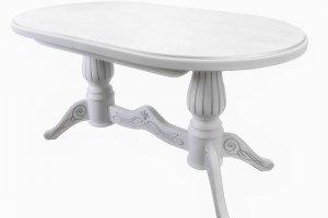 Стол обеденный Рифей 01 раздвижной белый/патина - Мебельная фабрика «Мебелик»