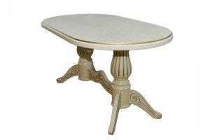 Стол обеденный Рифей 01 раздвижной слоновая кость/патина 160/200*90 - Мебельная фабрика «Мебелик»