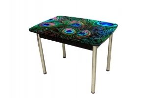 Стол с фотопечатью Павлин - Мебельная фабрика «Вельвет»