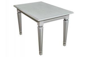 Стол Васко 01 раздвижной белый/патина - Мебельная фабрика «Мебелик»