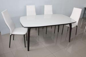 Обеденный стол со стеклом - Мебельная фабрика «MILIOHOME»