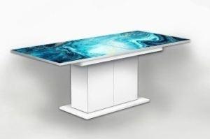 Стол раздвижной на тумбе Лазурь - Мебельная фабрика «Рим»