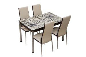 Стол с хромированными ножками Глория - Мебельная фабрика «Milio»