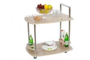 Стол сервировочный Банкет дуб белёный - Мебельная фабрика «Мебелик»
