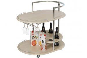Стол сервировочный Официант дуб белёный - Мебельная фабрика «Мебелик»