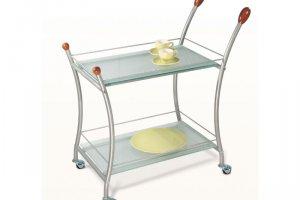 Стол сервировочный Поло металлик/матовое - Мебельная фабрика «Мебелик»