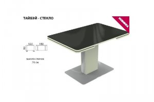 Стол Тайбэй стекло - Мебельная фабрика «Аврора»