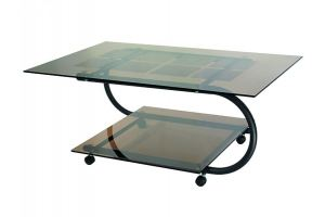 Стол журнальный ДУЭТ 10 черный/тонированное - Мебельная фабрика «Мебелик»