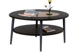 Стол журнальный Эль со стеклом СЖС-01 венге - Мебельная фабрика «Мебелик»
