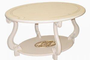 Стол журнальный Овация (М) слоновая кость/золото - Мебельная фабрика «Мебелик»
