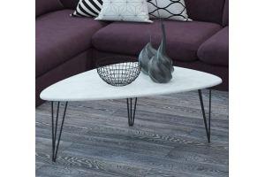Стол журнальный Престон белый бетон - Мебельная фабрика «Мебелик»