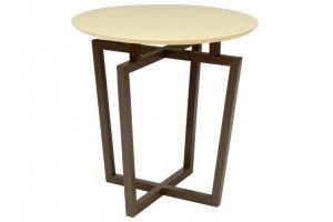 Стол журнальный Рилле 440 темный кофе/бежевый (круглое) - Мебельная фабрика «Мебелик»