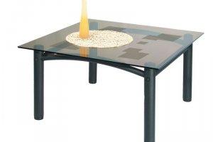 Стол журнальный Робер 2М черный/тонированное - Мебельная фабрика «Мебелик»