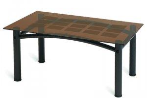 Стол журнальный Робер 3М черный/тонированное - Мебельная фабрика «Мебелик»