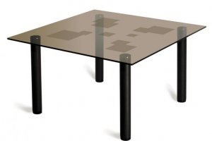 Стол журнальный черный Робер 9М - Мебельная фабрика «Мебелик»