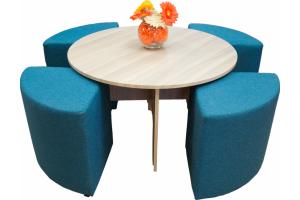 Стол журнальный с пуфами - Мебельная фабрика «Элфис»