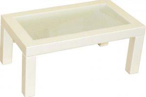 Стол журнальный Сакура 3 эко-кожа слоновая кость - Мебельная фабрика «Мебелик»