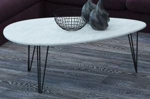 Стол журнальный Шеффилд белый бетон - Мебельная фабрика «Мебелик»