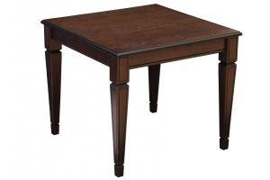 СТОЛ ЖУРНАЛЬНЫЙ ВАСКО В 82 темно-коричневый/патина - Мебельная фабрика «Мебелик»