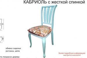 Стул Кабриоль с жесткой спинкой - Мебельная фабрика «Аврора»