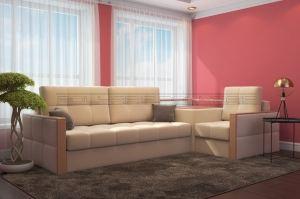 Светлый угловой диван Диамант А - Мебельная фабрика «Полярис»