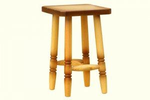 Табурет деревянный точеный с мягким сиденьем - Мебельная фабрика «DM - DarinaMebel»