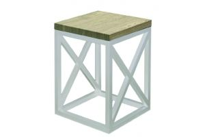 Табурет FORM FIR WHITE - Мебельная фабрика «Desk Question»