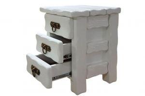 Тумбочка Аленушка 1 с элементами ковки белая 3 ящика - Мебельная фабрика «Кедр-М»
