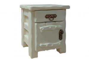 Тумбочка Аленушка ящик+дверь с элементами ковки слоновая кость - Мебельная фабрика «Кедр-М»
