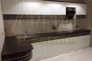 Угловая кухня эмаль со шпоном - Мебельная фабрика «Кредо»