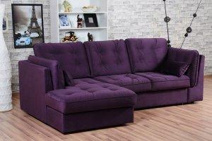 Угловой диван Брайтон 2 с оттоманкой - Мебельная фабрика «Мягкофф»