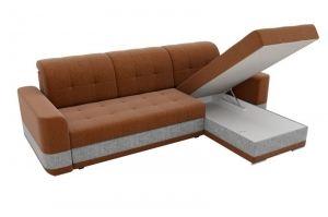 Угловой диван Честер рогожка коричневый - Мебельная фабрика «Мебелико»