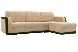 Угловой диван Марсель велюр бежевый зеленый - Мебельная фабрика «Мебелико»