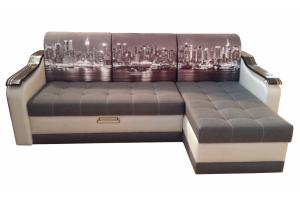 Угловой диван Престиж-3 с фотопечатью на подушках - Мебельная фабрика «Magnat»