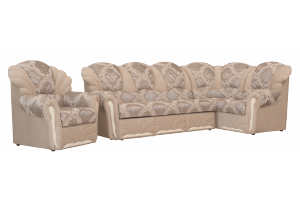 Диван Жемчуг угловой + 1 кресло  - Мебельная фабрика «Айва»