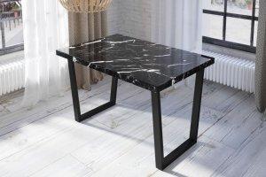 Стол стильный 3D Мрамор черный - Мебельная фабрика «Akrolux»