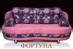 Розовый диван с цветами Фортуна - Мебельная фабрика «Альянс-М»