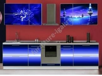 Кухня прямая с фотопечатью  - Изготовление мебели на заказ «Игал»