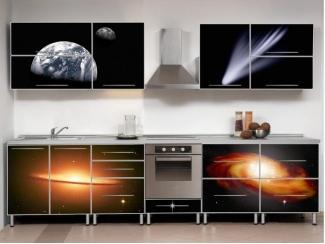 Темный кухонный гарнитур Космос  - Мебельная фабрика «Мебель России»