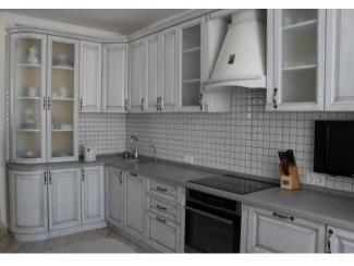 Кухня из массива дуба беленый с патиной серебро - Мебельная фабрика «Леспром»