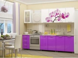 Кухня ЛДСП с фотопечатью Орхидея