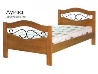 Кровать Луиза из массива сосны с элементами ковки - Мебельная фабрика «Массив»