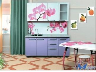 Кухня прямая Орхидея сиреневая - Мебельная фабрика «Мир Мебели»