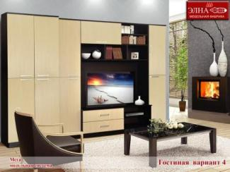 Гостиная стенка Мега вариант 4 - Мебельная фабрика «Элна»