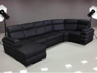 Черный диван Палермо  - Мебельная фабрика «Премиум Софа», г. Ульяновск