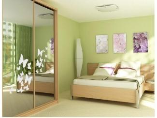 Светлый спальный гарнитур Оптима  - Мебельная фабрика «Аллоджио»